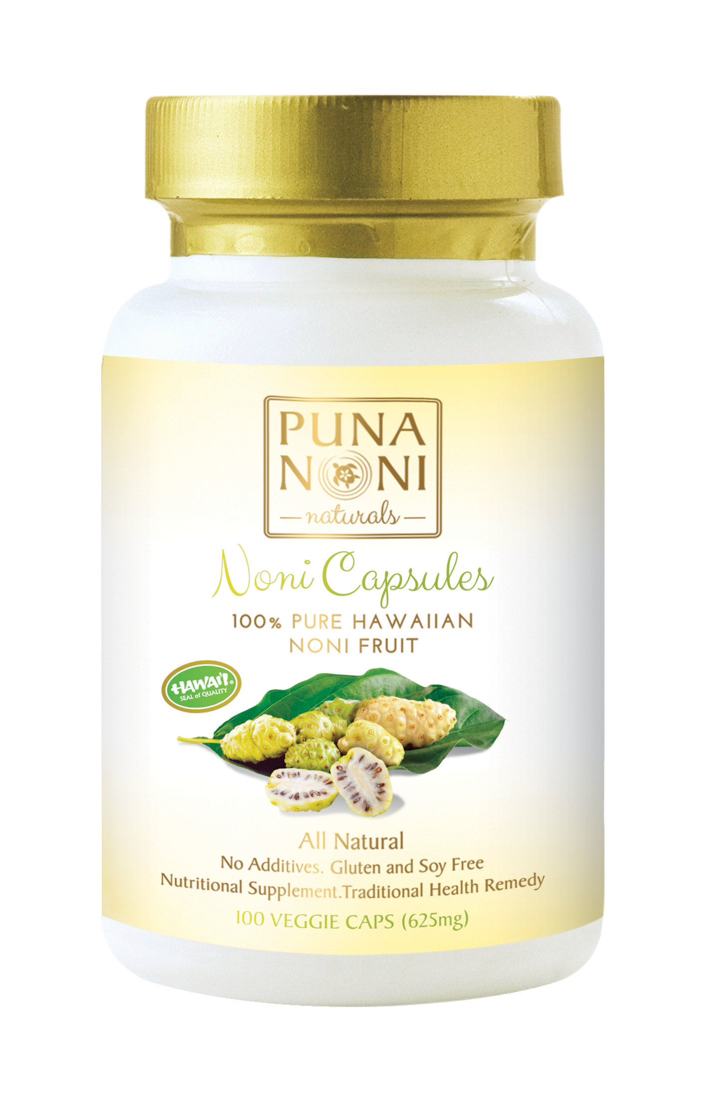 625mg Capsules 100 1 Bottle Puna Noni